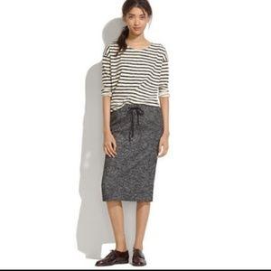 Madewell Gray Game Plan Heathered Skirt 08614
